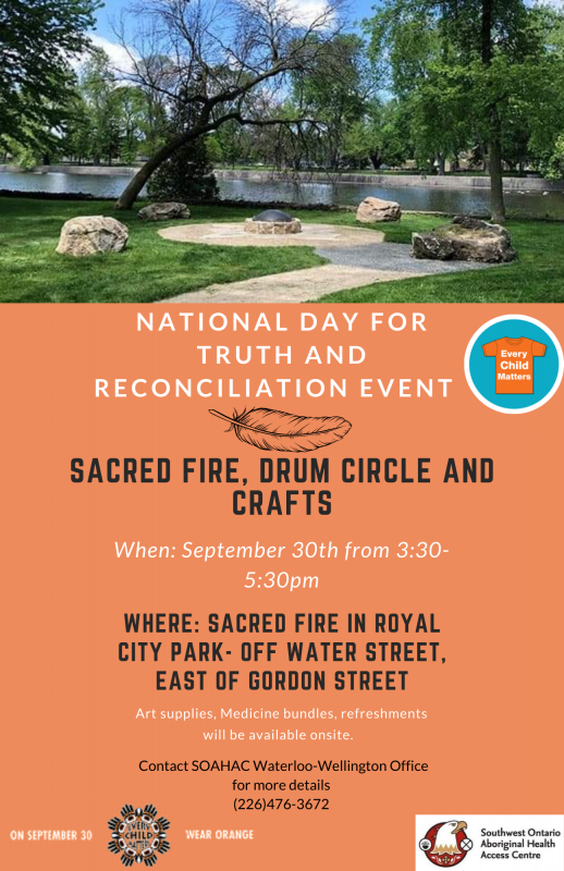 Read more about the article National Day of Truth and Reconciliation Event with Southwest Ontario Aboriginal Health Access Centre